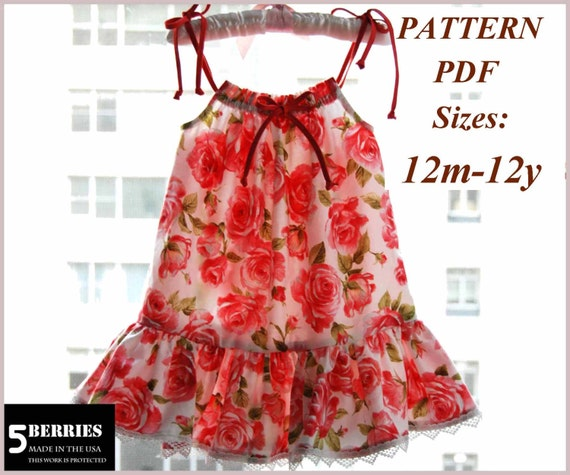 Pillowcase Dress Pattern Free MotherDaughter Apron Pattern Etsy Magnificent Free Pillowcase Dress Pattern