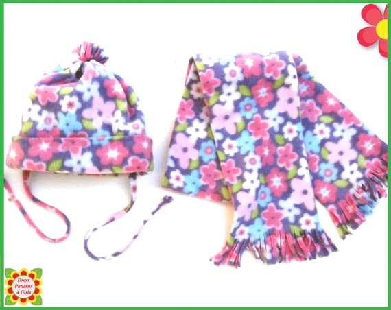 Hat Scarf Sewing Pattern From New Born To Xxl Adult Girls Etsy