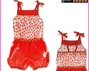 Annabel romper PDF sewing pattern.