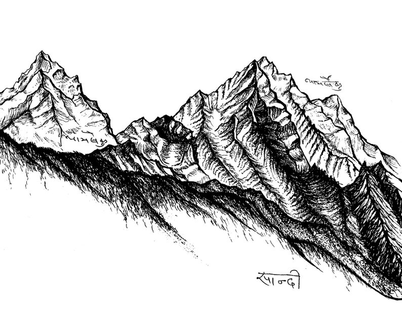 Himalayan Dreamscape  Thamserku Mountain  Archival Print image 1