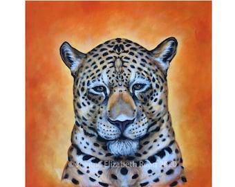 Jaguar Painting | Divine Feminine Artwork | Shamanic Art | Sacral Chakra