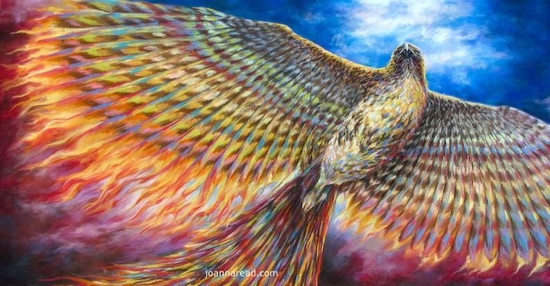 Red Tailed Hawk Turned Phoenix Rainbow Phoenix Rebirth and image 0