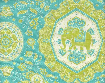 Trade Winds Jaipur green/blue Lily Ashbury moda fabric FQ or more