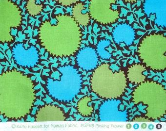 Kaffe Fassett Pinking Flower green blue Westminster Rowan Fabrics Fat Quarter yard or more OOP Rare