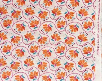 Cuzco Kate Spain Embroidery tangerine moda fabrics FQ or more