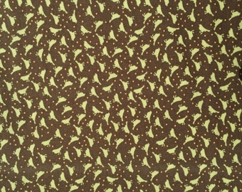 SALE : Blossom Urban Chiks Chikadees bark brown moda fabrics FQ or more