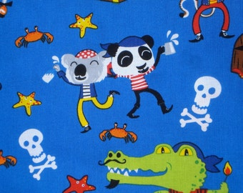 Animal Pirates Timeless Treasures fabric FQ or more