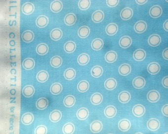Blossom Reel circle dot sky blue DS Quilts Denyse Schmidt fabric  FQ or more