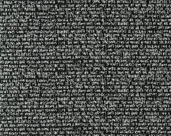 Architextures Scribble Notes black text Carolyn Friedlander fabric FQ or more