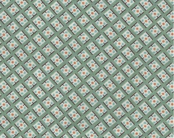 Hadley Dot in Square hydrangea Fat Quarter or more Denyse Schmidt Free Spirit fabrics OOP