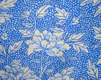 SALE : Kaffe Fassett Peony cobalt blue GP 17 Westminster Rowan Fabrics FQ or more