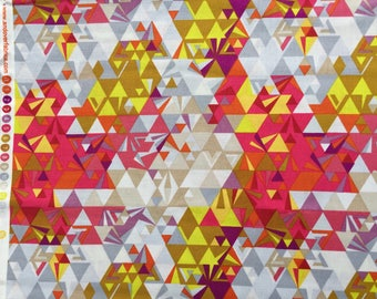 Ex Libris Geometry sunrise Alison Glass Andover fabrics FQ or more