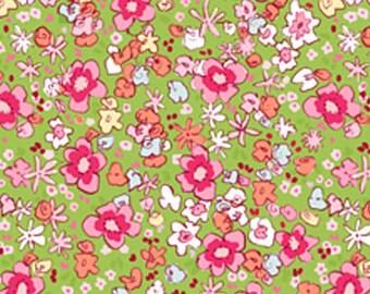 Sarah Jane Children at Play meadow  green Michael Miller fabric FQ