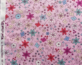 Hello Petal Aneela Hoey Dinky pink moda fabric FQ or more