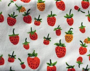 KNIT fabric Heather Ross Briar Rose berries orange One Yard or more OOP HTF