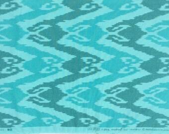 SALE : Lush Uptown Erin Michael Ikat turquoise moda fabrics FQ or more