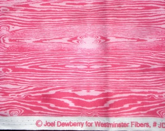 Aviary Joel Dewberry Woodgrain dark pink FQ or more