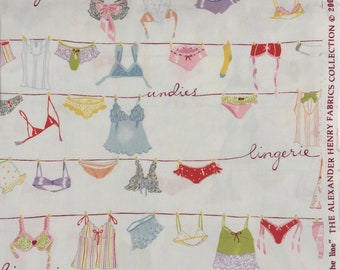 """Alexander Henry fabric """"lingerie on the line"""" Fat Quarter yard or more"""