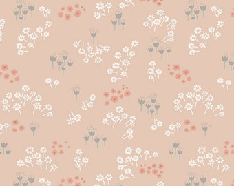Littlest peach floral Art Gallery fabric FQ or more