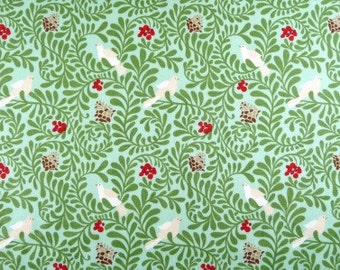 In From the Cold Kate Spain Christmas Birdsong mint moda fabrics FQ or more