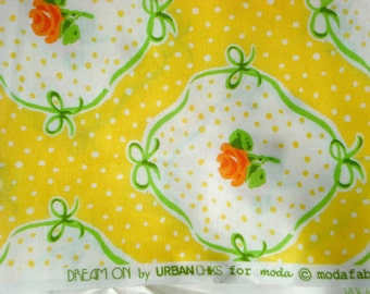 Urban Chiks Dream On flashback hello yellow moda fabric FQ or more