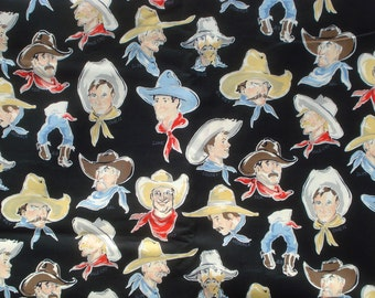 Alexander Henry buckaroos fabric black 2004 Fat Quarter or more