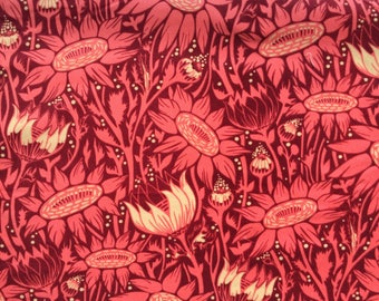 """Coreopsis coral Velveteen Anna Maria Horner Loulouthi One Half Yard 18"""" x 56"""""""