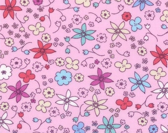 Hello Petal Dinky pink FQ or more Aneela Hoey moda fabric
