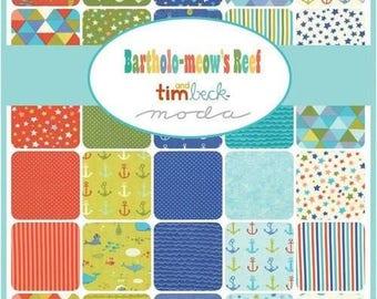 Bartholo-meow's Reef Tim & Beck charm pack moda fabrics OOP HTF