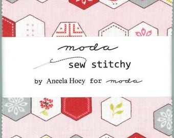 Sew Stitchy charm pack Aneela Hoey moda fabrics OOP HTF