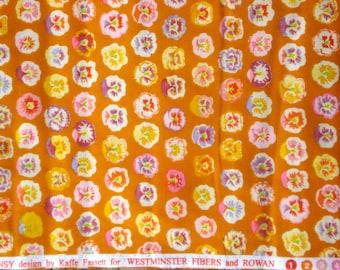 SALE : Kaffe Fassett Pansy gold orange GP 23 Rowan Fabrics FQ or more