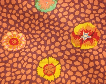 SALE : Kaffe Fassett Guinea Flower rust GP 59 Westminster Rowan Fabrics FQ or more