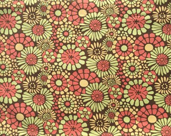 Urban Chiks Blossom Mosaic brown moda fabrics FQ or more