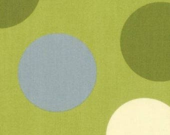 Freebird MoMo Ball Dot green moda fabrics FQ or more
