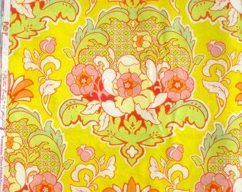 Pop Garden Pineapple Brocade yellow Heather Bailey Free Spirit Fabrics by the scant yard