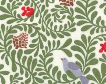 In From the Cold Kate Spain birdsong white moda fabrics FQ or more