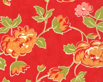 SALE : Marmalade Bonnie & Camille bloom red moda fabrics FQ or more