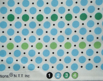 DS Quilts Denyse Schmidt Dots Green Blue Picnic Fairgrounds Fat Quarter or more