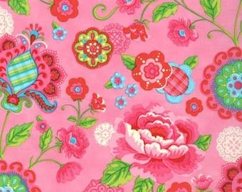 Gypsy Girl Lily Ashbury Gypsy Bloom candy floss pink moda fabrics FQ or more