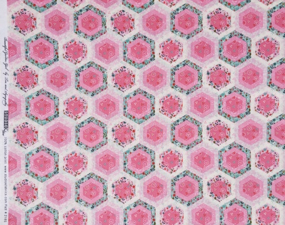 Denyse Schmidt PWDS150 Ludlow Sparse Floral Dogwood Cotton Fabric By Yd