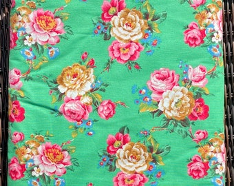 Rose Bouquet green FQ or more Jenny Eliza Jennifer Paganelli Springs fabric