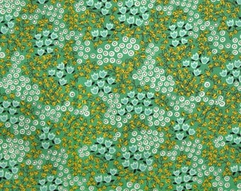 Rosette tiny floral green Juliana Horner Fabric Traditions  FQ or more