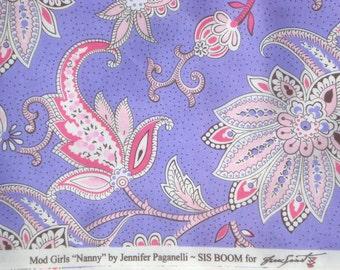 Mod Girls Nanny purple Jennifer Paganelli Sis Boom Free Spirit fabrics FQ or more