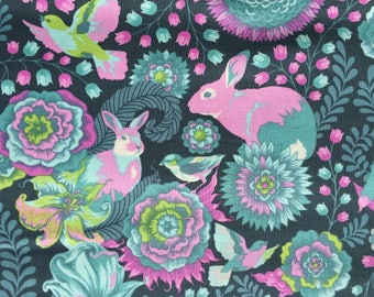 Fox Field Foxtrot dusk Tula Pink fabric FQ or more OOP HTF