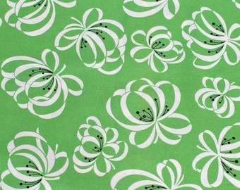 Katie Jump Rope Ribbon Flower Fairway green original release Denyse Schmidt Fat Quarter or more