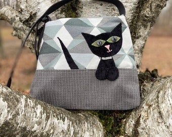 Cat Purse, Vet Tech Gift, Upcycled