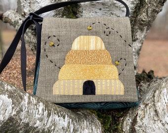Bee purse, bee hive, beekeeper gift