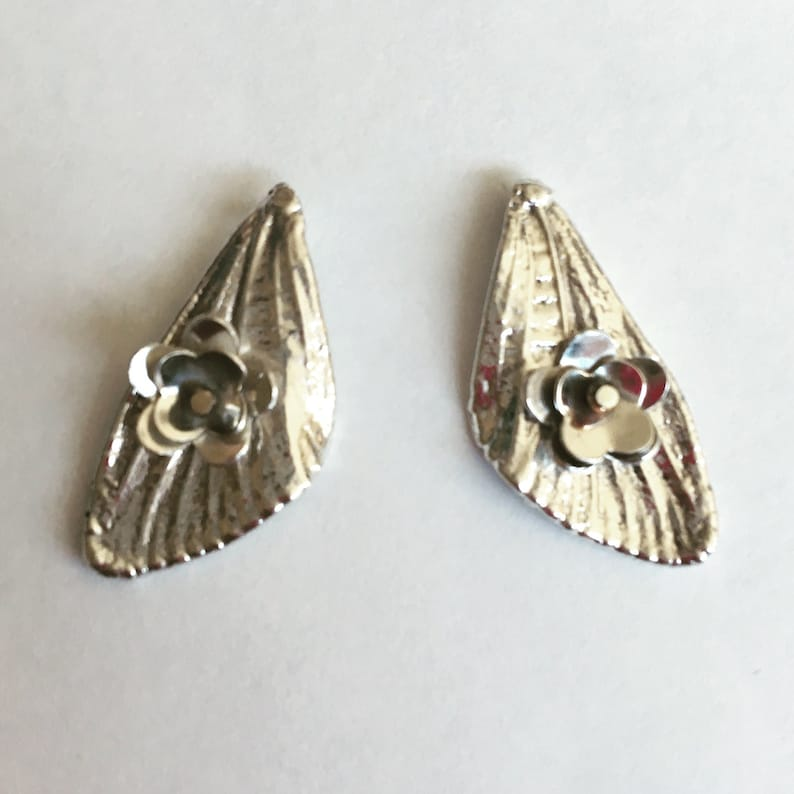 Small Sterling Silver Cicada Wings with Blossoms Post Earrings image 0