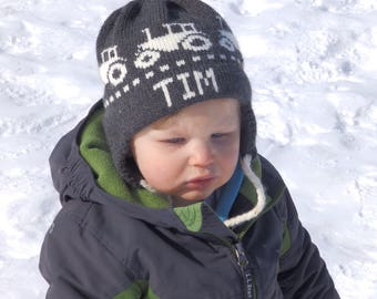 8729b9e6e4eac Personalized Winter Hat with Earflaps