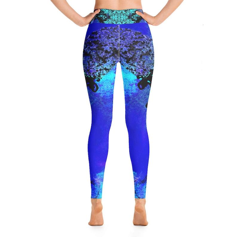 Running Leggings Raised Waistband Women Leggings Fitness Leggings Baroque Style Yoga Leggings Microfiber Yarn Pants Stretchy Pants